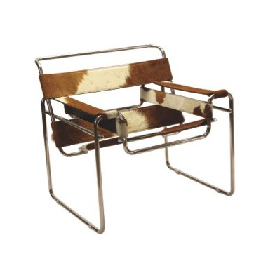 Wassily Style Chair   Pony Hide