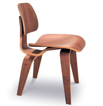 Eames Style DCW Molded Dining Chair (Painted In Walnut)