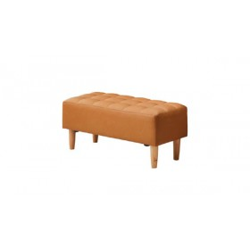 MEGHAN Bench with Light Brown leather