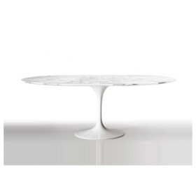 Tulip oval dining table- Natural marble Top