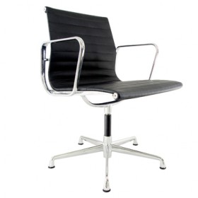 Eames Style Office Chair - Low Back with Armrest