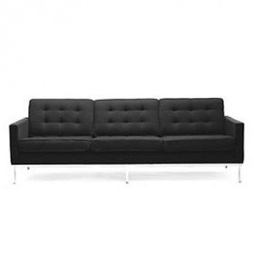 Knoll Style 3-Seater Sofa Full Italian A+ Leather