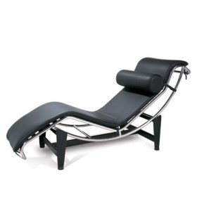 LC4 Chaise Lounge Italian Leather