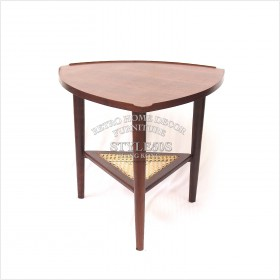 triangle solid teak with mesh