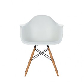 Eames Style DAW Wood Base Armchair