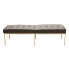 Knoll Style 3-Seater Bench Full Italian A+ Leather