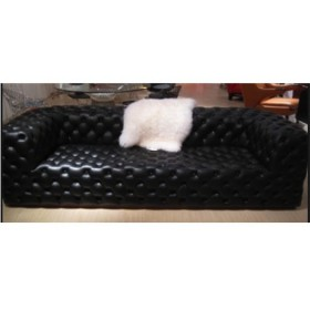 Chesterfield Sofa 3-seater Full Italian A+ Leather