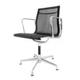 Eames Style Mesh Office Chair - Low Back with Armrest