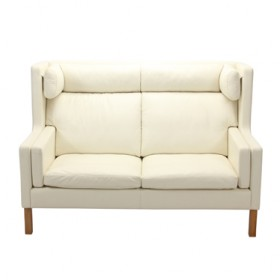 Mogensen Style 2192 High Back 2-Seater Sofa Full Italian A+ Leather