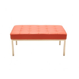 Knoll Style 1 Seater Bench-Italian Leather