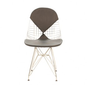 Eames Style DKR Wire Chair With leather pads