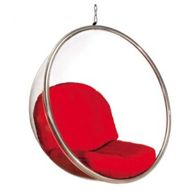 Bubble Chair with Cashmere Cushion