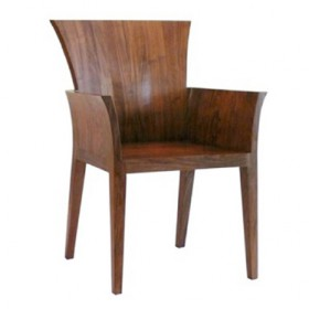 'FEI'walnut armchair