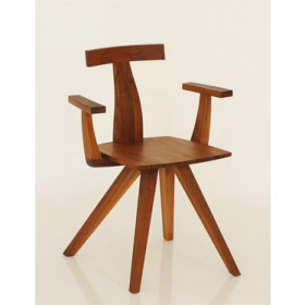 'TEE'walnut armchair