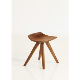 SHAO' walnut recital stool