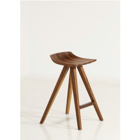 'SHAO' walnut bar stool