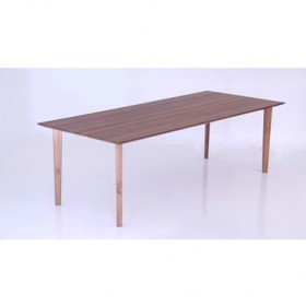 'PING' walnut dining table