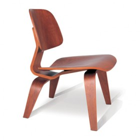 Eames Style LCW Molded (Painted in Walnut)