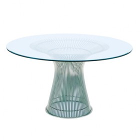 Platner Style Dining Table, 15 mm Glass