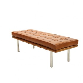 Barcelona Bench with Full Italian A+ Leather