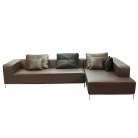 Bruce L-Shape Sofa with Full Italian A+