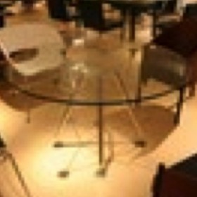 Round Clear Glass Dining Table