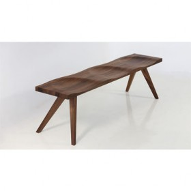 LANG' walnut bench Trio (3-seater)