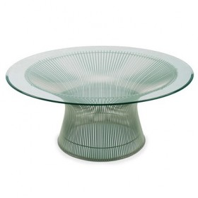 Platner Style Coffee Table, 12 mm Glass